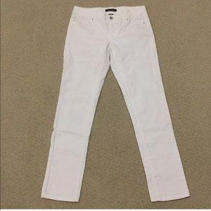 White House Black Market white jeans size 2
